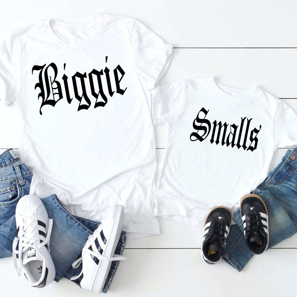 Daddy and Me biggie and smalls t-Shirts