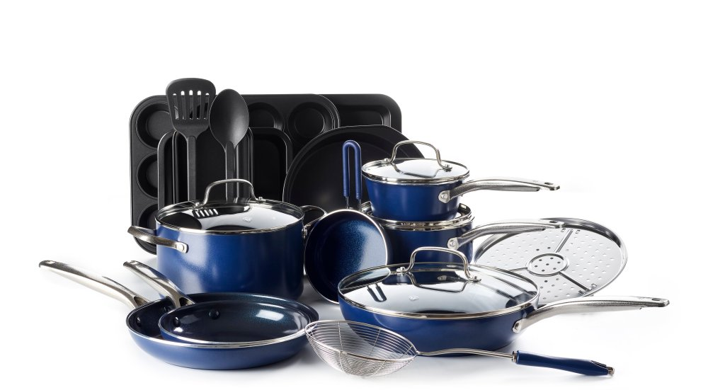 ceramic cookware blue diamond