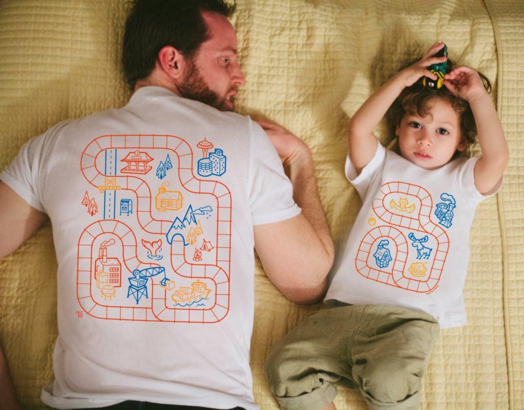 Matching Train Shirt , matching father and son shirts