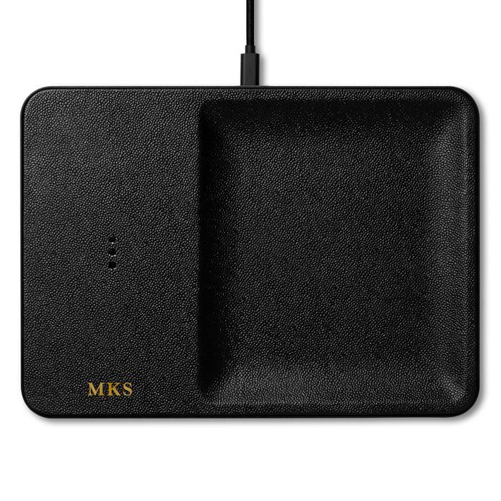 Mark and Graham personalizable Courant wireless charging accessary tray, personalized gifts for him