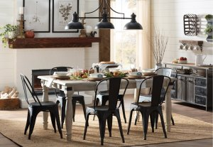 Cabott extendable dining table, expandable dining table