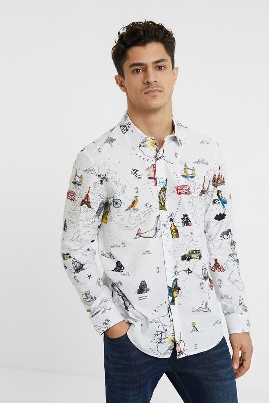 Desigual Slim-Fit Map Shirt