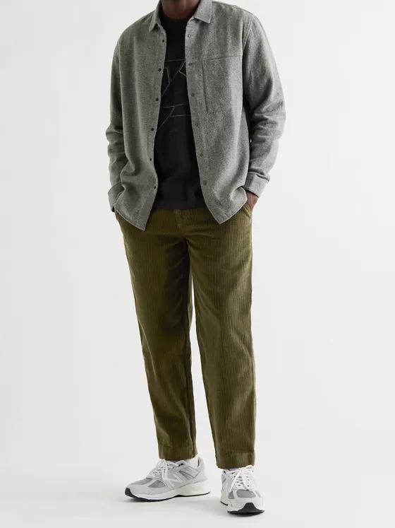Folk olive tapered corduroy pants