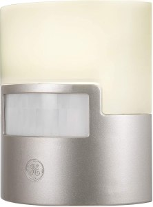 motion-activated lights ge silver led night light