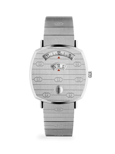 Gucci Grip GG Stainless Steel Bracelet Watch