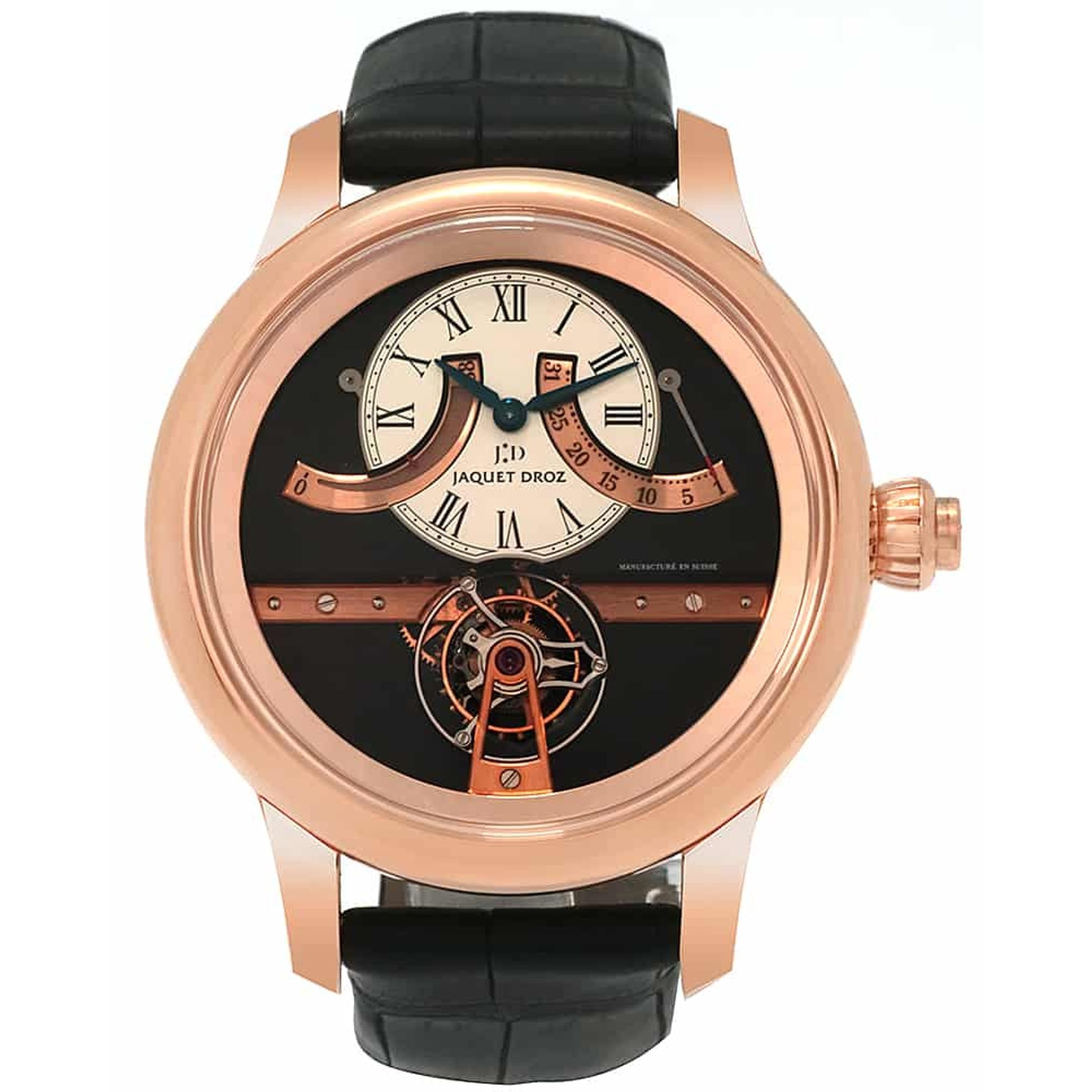 Jaquet-Droz-Tourbillon-Retrograde-Reserve-De-Marche-18k-Rose-Gold-Manual-Wind-Mens-Watch