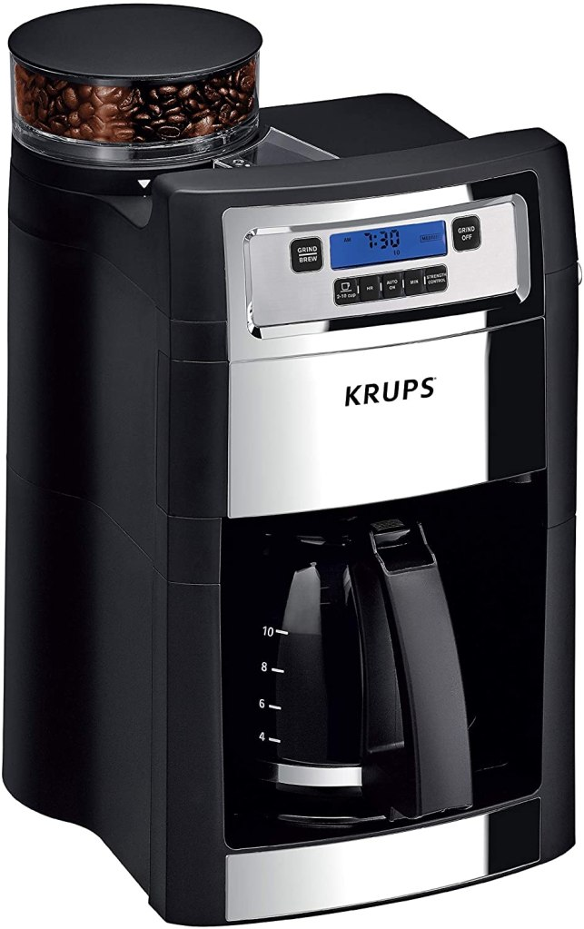 coffee machine with grinder krups grind and brew auto