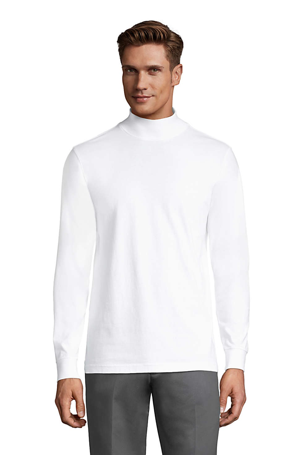 mock neck sweater Land's End Super-T Mock Neck