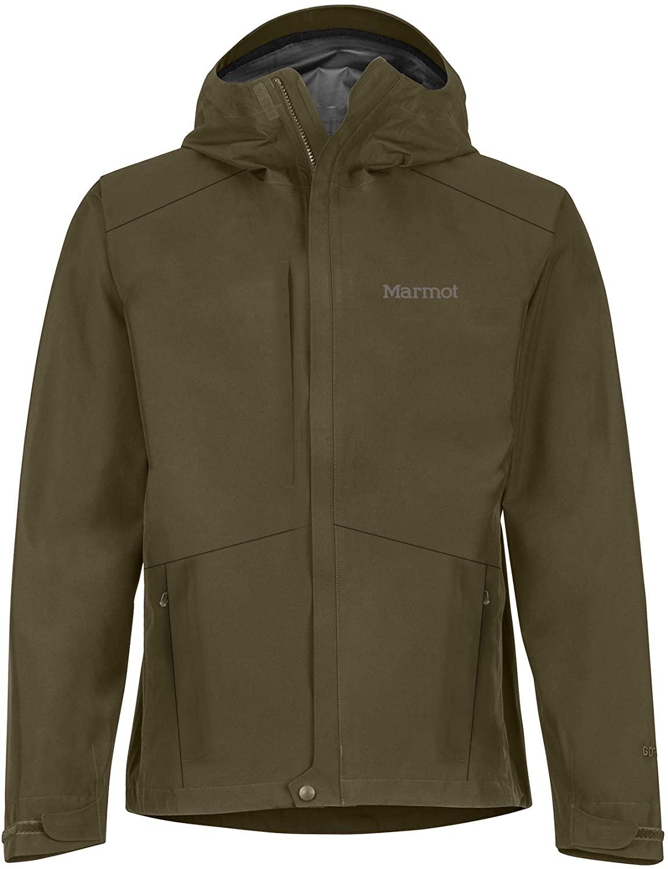 Marmot Men's Minimalist LIghtweight Waterproof Rain Jacket in green