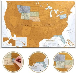 Maps International Scratch Off Map Of The US, best gifts for wife