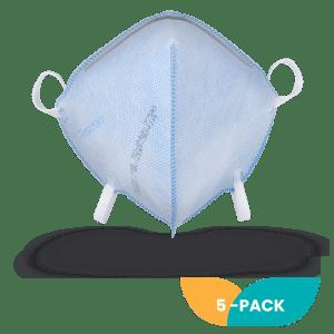 Respokare N95 respirator 5-pack, N95 masks