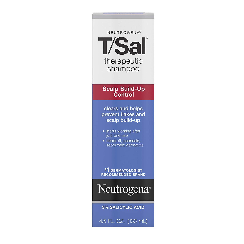 Neutrogena T/Sal Therapeutic Shampoo Scalp Build-Up Control; best dandruff shampoo