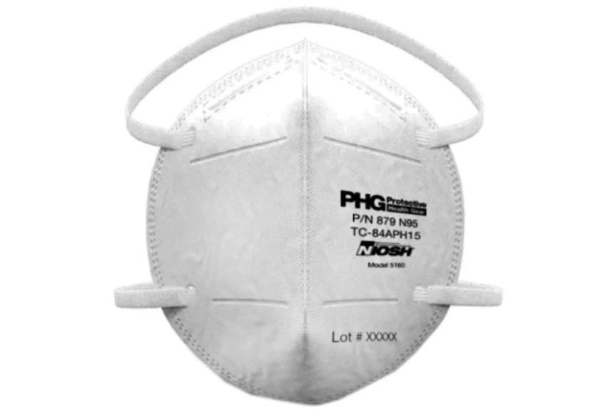 PHG N95 Particulate Respirator Masks