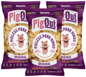 best plant-based meat pigout pigless pork rinds original