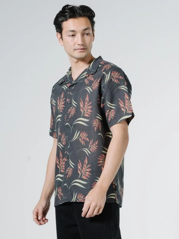 Thrills Brunswich Tropical Solitude Print Bowling Shirt