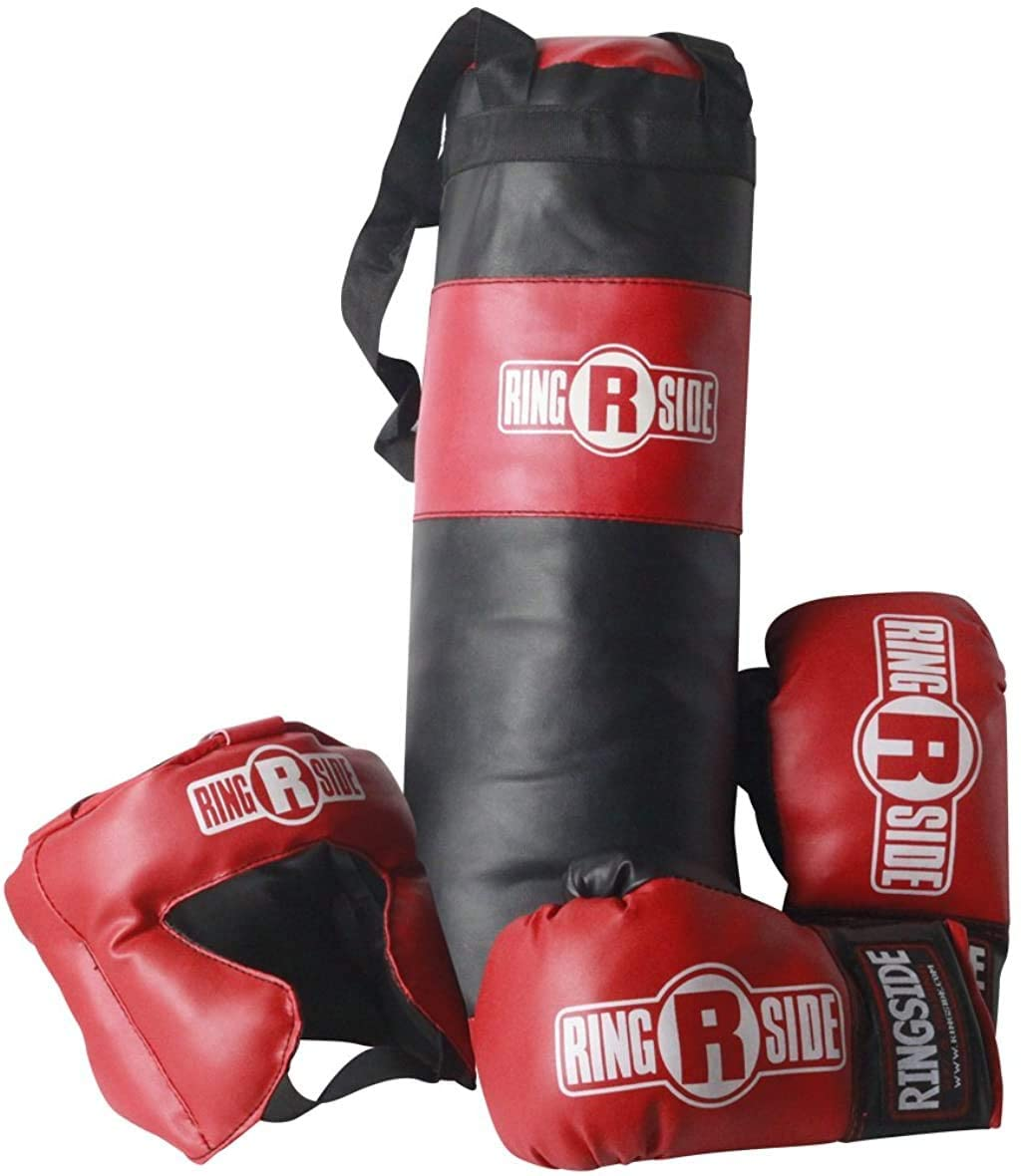 Ringside Kids Boxing Gift Set with gloves, headgear and mini heavy bag