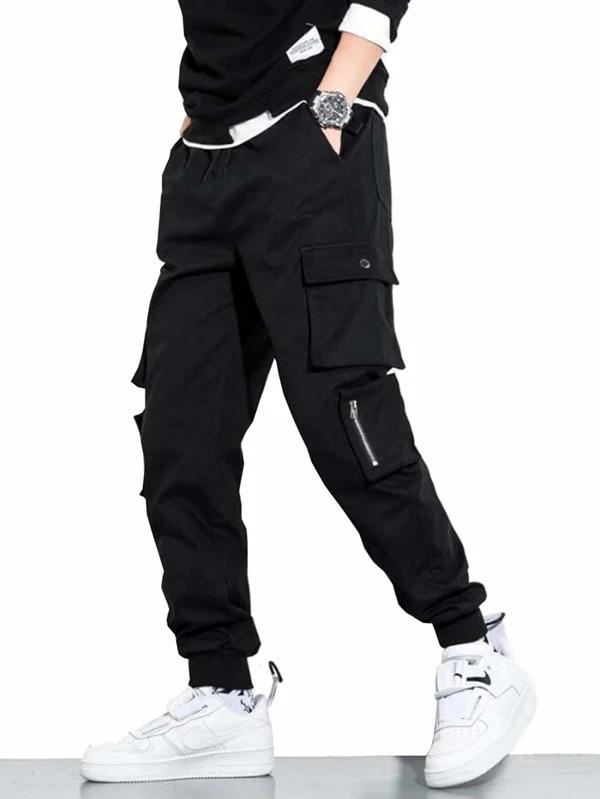 SHEIN-Solid-Drawstring-Detail-Cargo-Pants