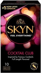 non latex condoms skyn cocktail club premium flavored