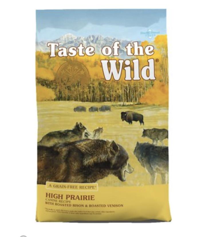 taste of the wild dog food bag