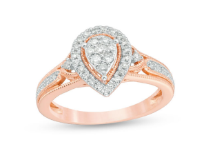 pear-shaped diamond engagement ring, engagement rings under 1000