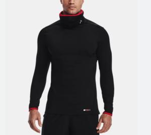 under armour sportsmask mock neck long sleeve shirt