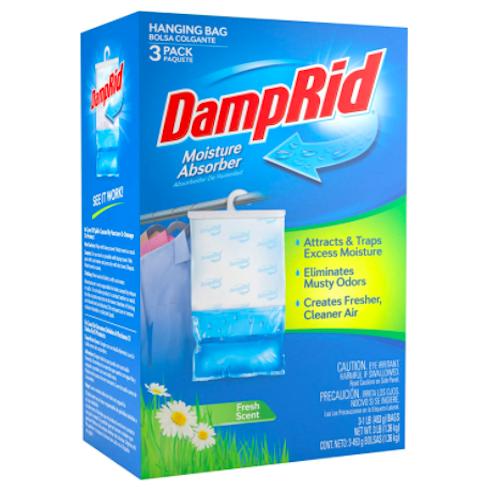 DampRid Moisture Absorber Hanging Bag, 3-Pack