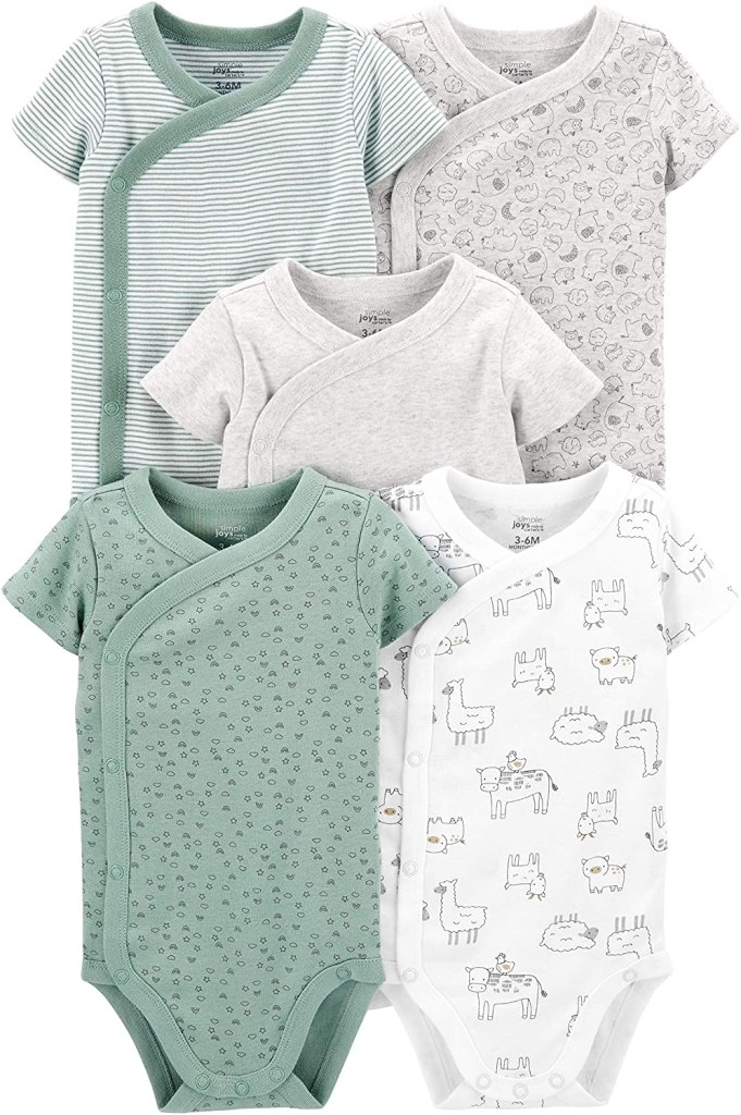 Simple Joys by Carter's Baby 5-Pack Side Snap Bodysuit