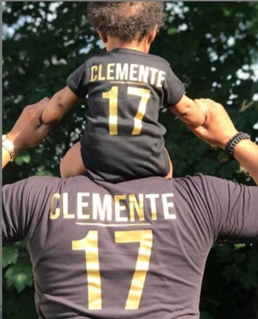 Sports Tee matching jersey Set for daddy and me