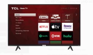 best tv deals- TCL 43-Inch Class 4-Series 4K Roku TV