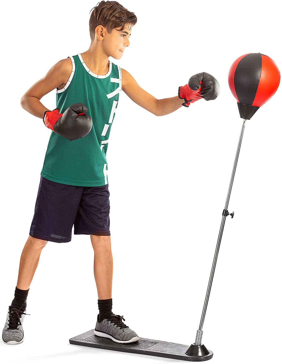 Kids uses Tech Tools Punching Bag with Stand for Kids, punching bag for kids