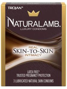 trojan naturalamb latex free lubricated