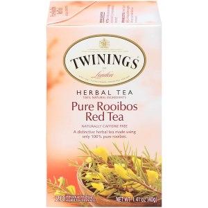 Twinings of London Pure Rooibos herbal red tea, best coffee alternatives