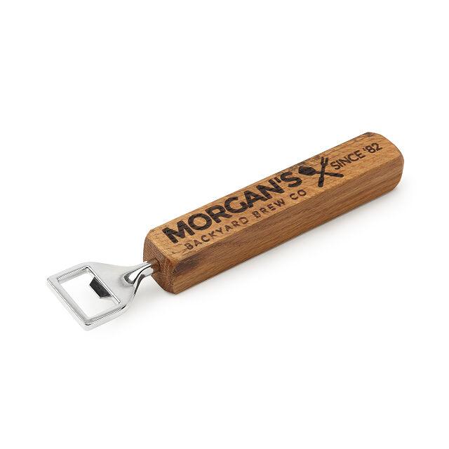Handheld personalized bottle opener