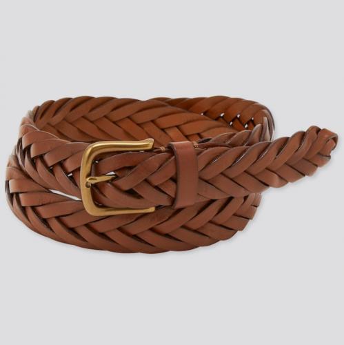 Uniqlo Wide Mesh Leather Belt
