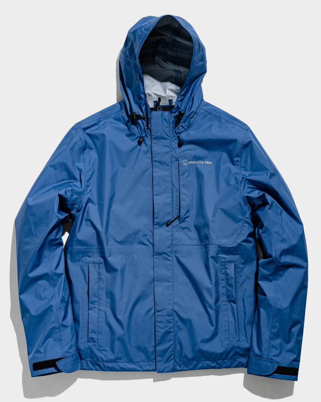 United by Blue Men's Recycled Rain Shell in blue