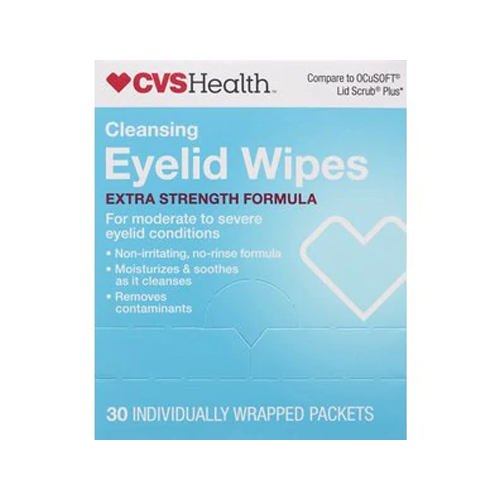 CVS Health No Rinse Eyelid Wipes