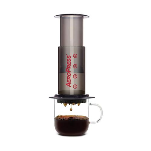 AeroPress Coffee and Espress Maker brewing a coffee