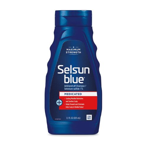 Selsun Blue Medicated Maximum Strength Dandruff Shampoo; best dandruff shampoo