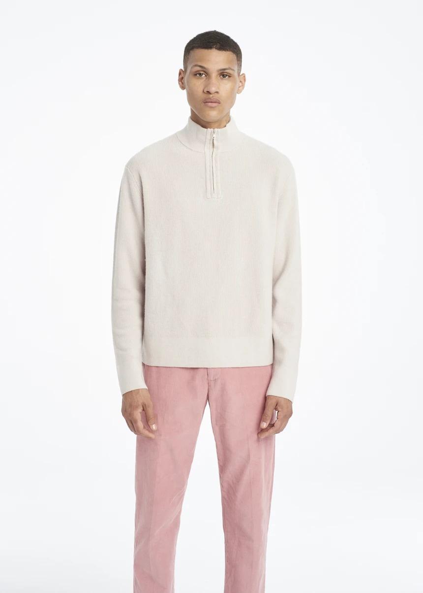 mock neck sweater victor li cashmere sweater