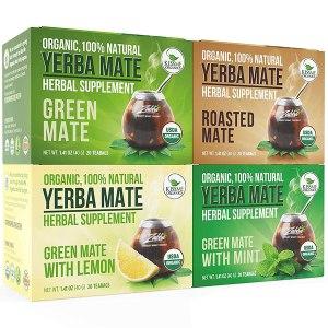 Yerba Mate tea bags, coffee alternatives