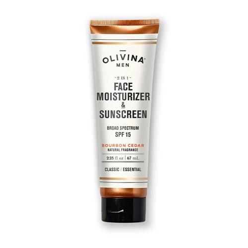 Olivina Men 2-in-1 Face Moisturizer & Sunscreen, best natural sunscreen