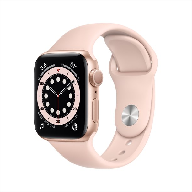 apple watch series 6 in pink