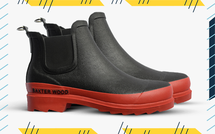 baxter wood vegan leather rain boot