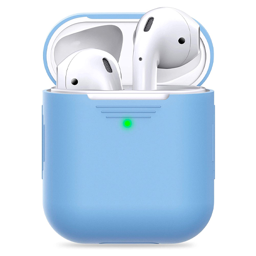 best airpod cases 2021 - PodSkinz Silicone AirPods 1 & 2 Case