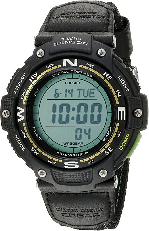 Casio Men's SGW-100B-3A2CF Digital Quartz Watch, compass watches