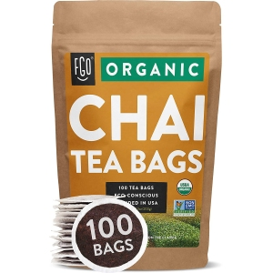 FGO organic chai tea bags, coffee alternatives