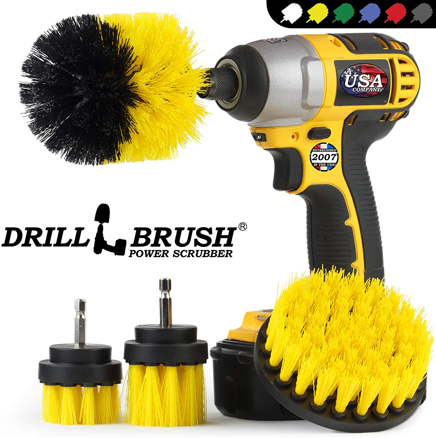Drill Brush Spin Scrubber Kit