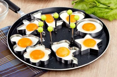 make breakfast fun again with these differently shaped egg molds
