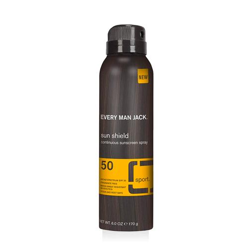 Every Man Jack Sun Shield Spray, SPF 50, best natural sunscreen