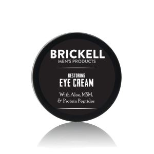 Brickell men's eye cream, men's natural grooming products